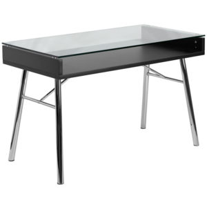 Wholesale Brettford Desk with Tempered Glass Top