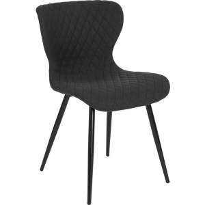 Wholesale Bristol Contemporary Upholstered Chair in Black Fabric