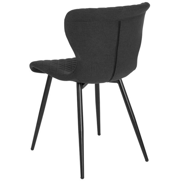 Accent Side Chair Black Fabric Accent Chair