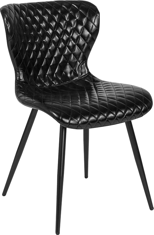 Wholesale Bristol Contemporary Upholstered Chair in Black Vinyl