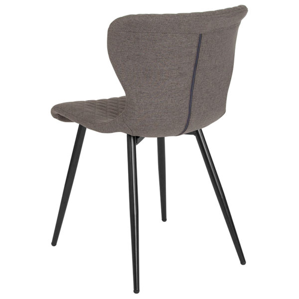 Accent Side Chair Gray Vinyl Accent Chair