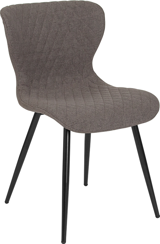 Wholesale Bristol Contemporary Upholstered Chair in Gray Fabric