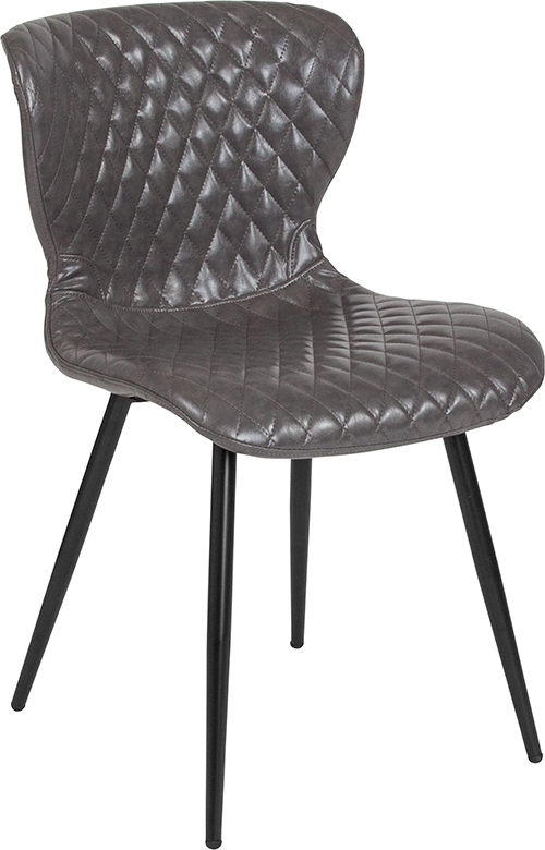 Wholesale Bristol Contemporary Upholstered Chair in Gray Vinyl