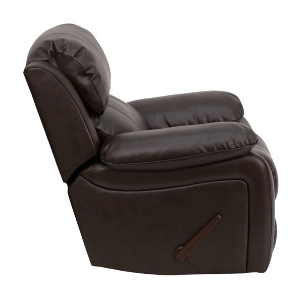 Lowest Price Brown Leather Rocker Recliner