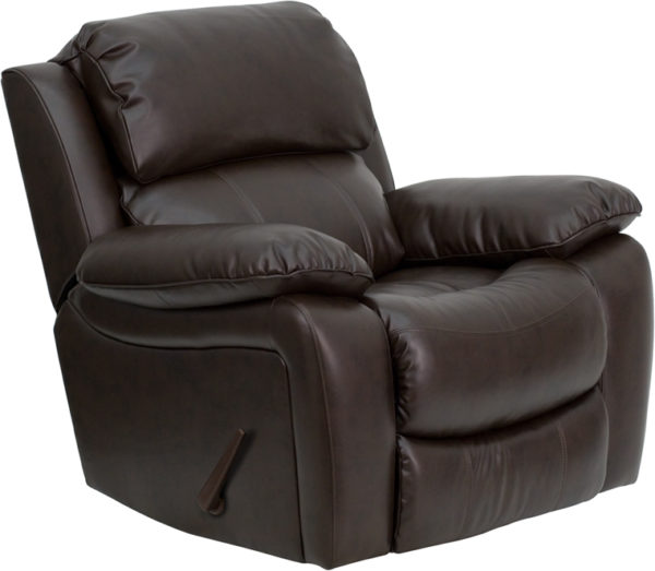 Wholesale Brown Leather Rocker Recliner