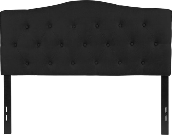 Lowest Price Cambridge Tufted Upholstered Full Size Headboard in Black Fabric
