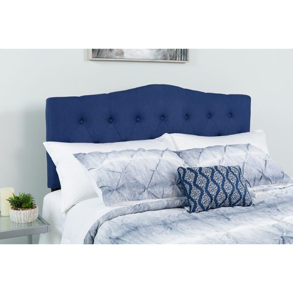 Wholesale Cambridge Tufted Upholstered Full Size Headboard in Navy Fabric