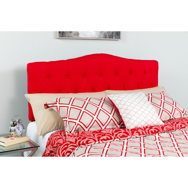 Wholesale Cambridge Tufted Upholstered Queen Size Headboard in Red Fabric