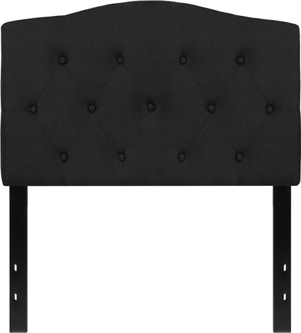 Lowest Price Cambridge Tufted Upholstered Twin Size Headboard in Black Fabric