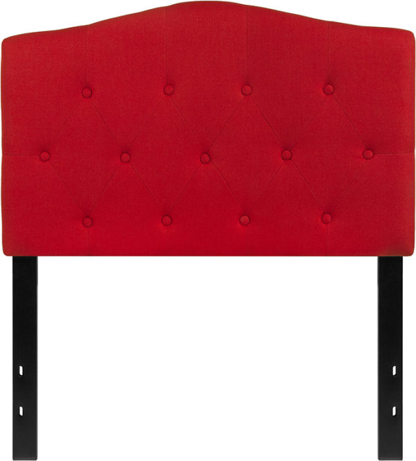 Lowest Price Cambridge Tufted Upholstered Twin Size Headboard in Red Fabric