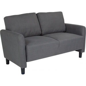 Wholesale Candler Park Upholstered Loveseat in Dark Gray Fabric