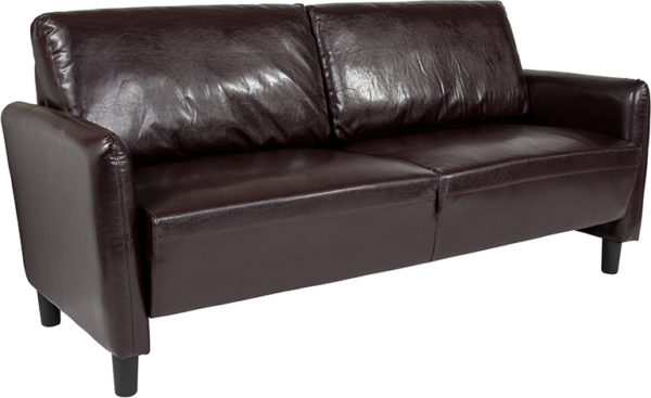 Wholesale Candler Park Upholstered Sofa in Brown Leather