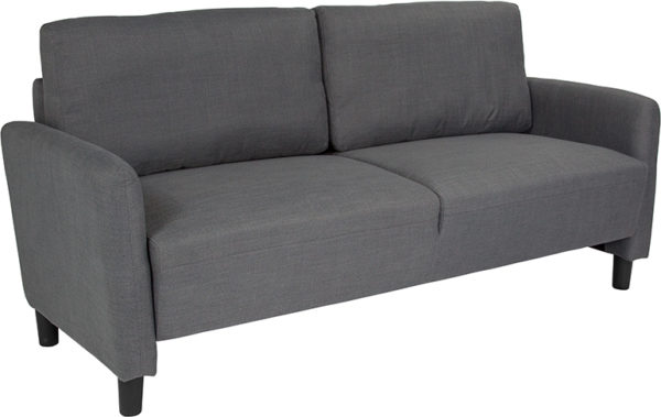 Wholesale Candler Park Upholstered Sofa in Dark Gray Fabric