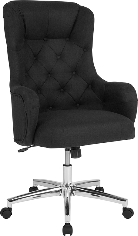 Wholesale Chambord Home and Office Upholstered High Back Chair in Black Fabric