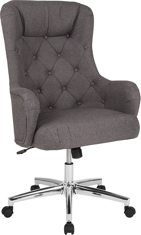 Wholesale Chambord Home and Office Upholstered High Back Chair in Dark Gray Fabric