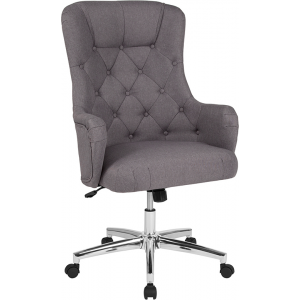 Wholesale Chambord Home and Office Upholstered High Back Chair in Light Gray Fabric
