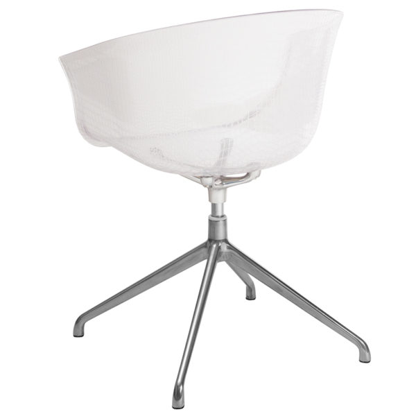 Accent Side Chair Clear Reception Chair