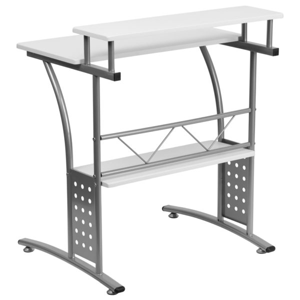Lowest Price Clifton White Computer Desk