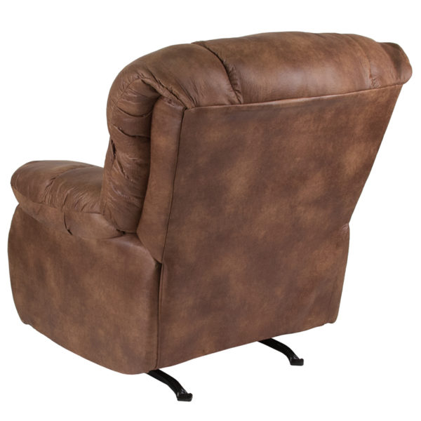 Lowest Price Contemporary Breathable Comfort Padre Almond Fabric Rocker Recliner