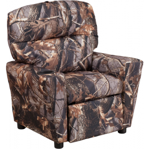 Wholesale Contemporary Camouflaged Fabric Kids Recliner with Cup Holder
