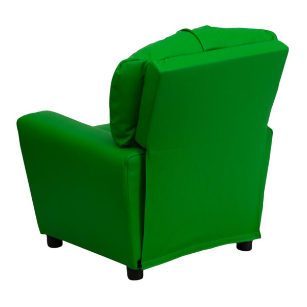 Child Sized Recliner Chair Green Vinyl Kids Recliner