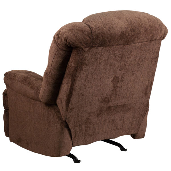 Contemporary Style Chocolate Chenille Recliner