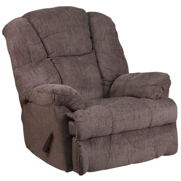 Wholesale Contemporary Hillel Pewter Chenille Rocker Recliner