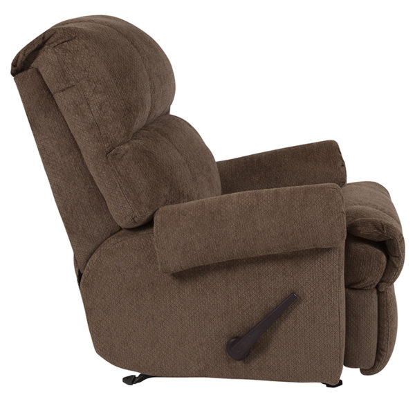 Lowest Price Contemporary Kelly Bark Super Soft Microfiber Rocker Recliner