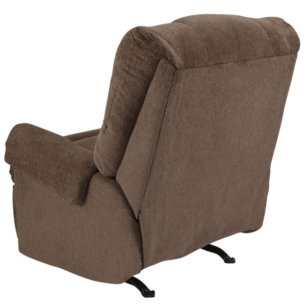 Contemporary Style Bark Microfiber Recliner