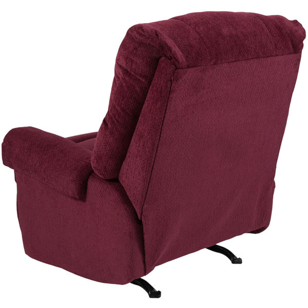 Contemporary Style Burgundy Microfiber Recliner