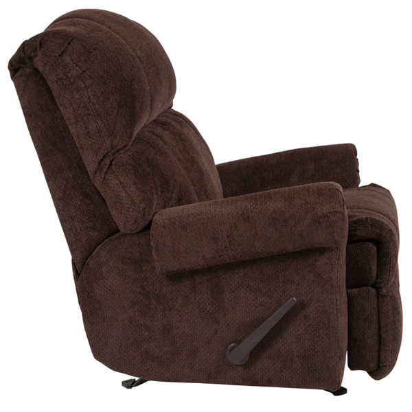 Lowest Price Contemporary Kelly Chocolate Super Soft Microfiber Rocker Recliner