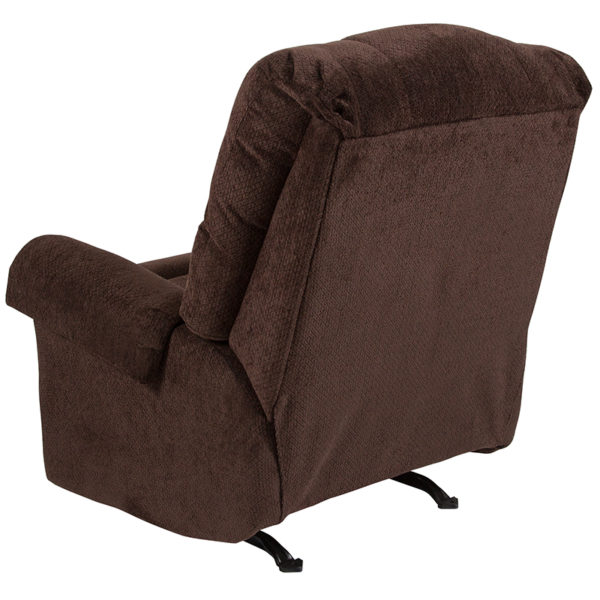 Contemporary Style Chocolate Microfiber Recliner