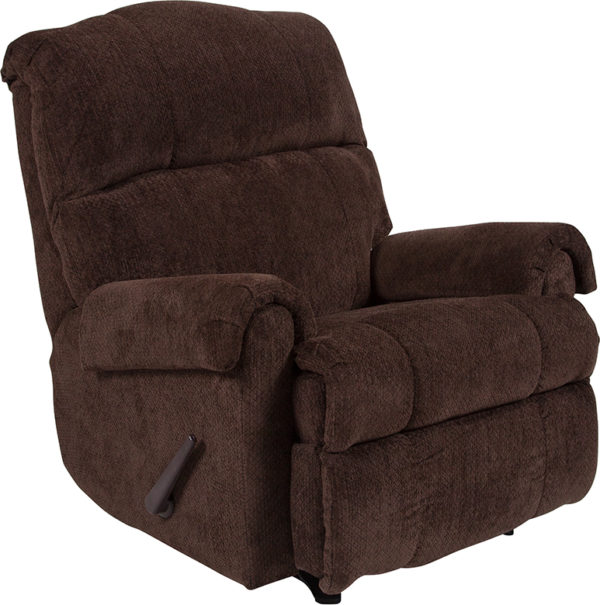Wholesale Contemporary Kelly Chocolate Super Soft Microfiber Rocker Recliner