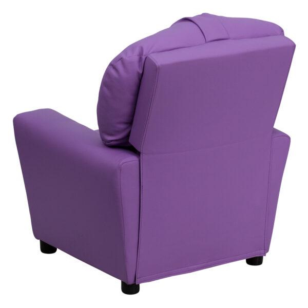 Child Sized Recliner Chair Lavender Vinyl Kids Recliner