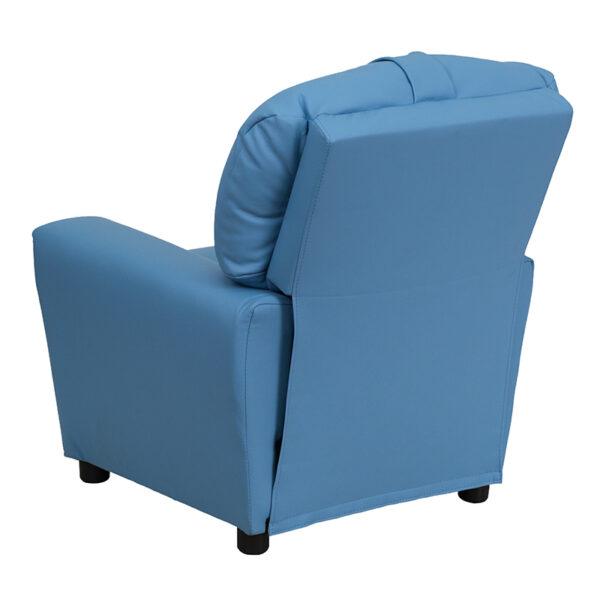 Child Sized Recliner Chair Light Blue Kids Recliner