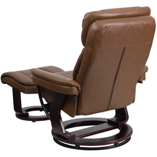 Recliner and Ottoman Set Palimino Leather Recliner&Otto