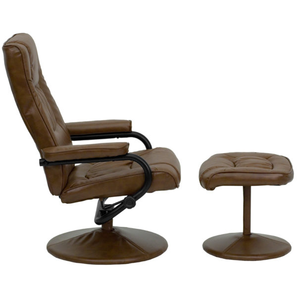Recliner and Ottoman Set Palimino Leather Recliner