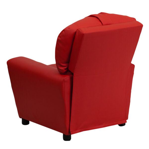 Child Sized Recliner Chair Red Vinyl Kids Recliner