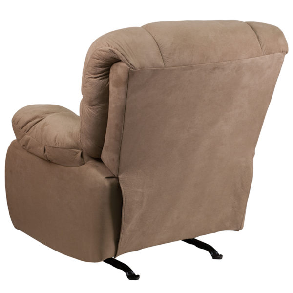 Contemporary Style Taupe Microfiber Recliner