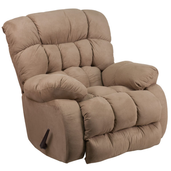Wholesale Contemporary Softsuede Taupe Microfiber Rocker Recliner