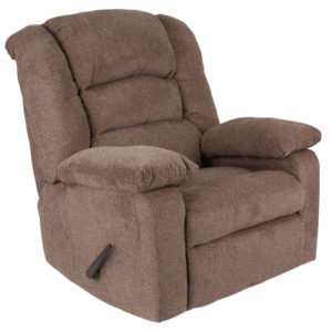 Wholesale Contemporary Super Soft Jesse Cocoa Chenille Rocker Recliner