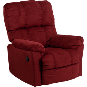 Wholesale Contemporary Top Hat Berry Microfiber Power Recliner with Push Button
