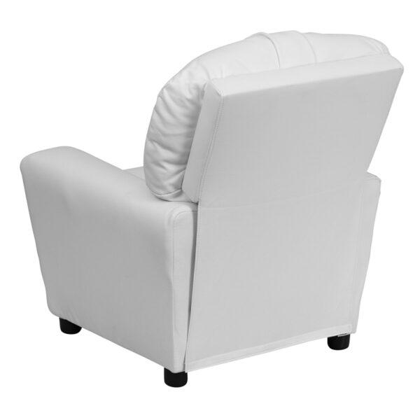 Child Sized Recliner Chair White Vinyl Kids Recliner
