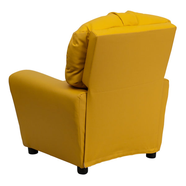 Child Sized Recliner Chair Yellow Vinyl Kids Recliner
