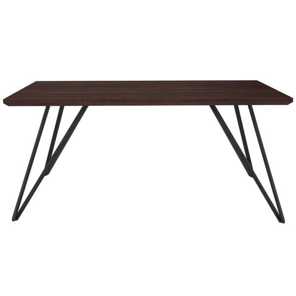 "Lowest Price Corinth 31.5"" x 63"" Rectangular Dining Table in Dark Ash Finish"