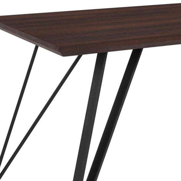 Contemporary Style 63x31.5 Dark Ash Dining Table