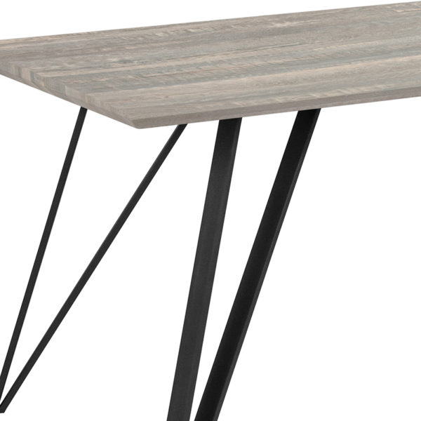 Contemporary Style 63x31.5 Gray Wood Dining Table