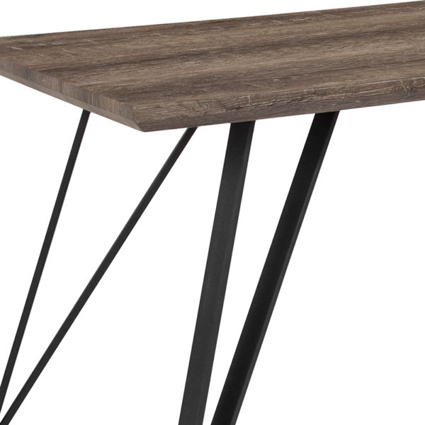 Contemporary Style 63x31.5 Brown Dining Table