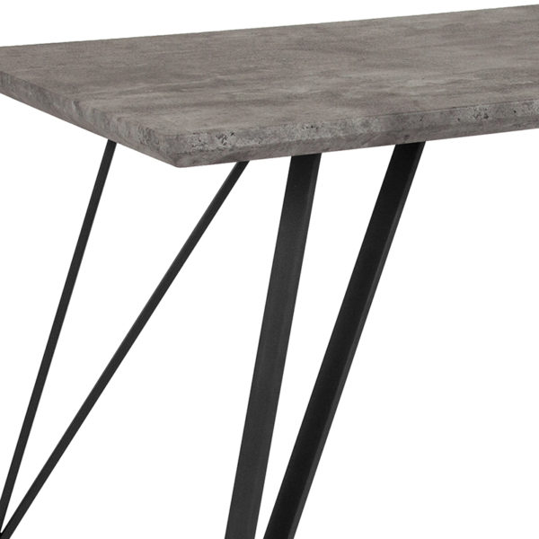 Contemporary Style 63x31.5 Concrete Dining Table