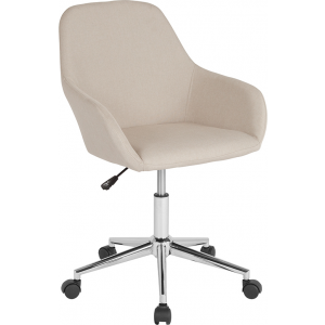 Wholesale Cortana Home and Office Mid-Back Chair in Beige Fabric